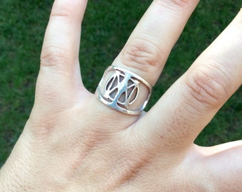 Dream Theater Sterling Silver Handmade Ring