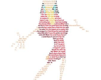 Disney Kuzco in Text Disney Art Emperor's New Groove