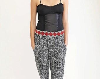 Womens Pants, Harem Pants, Boho Pants, Loose Pants, Printed Pants, Printed Trousers, Casual Pants, Hippie Pants, Wide Pants,Plus Size Pants