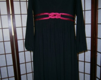 Women's Black V-Neck Dress