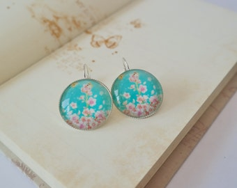 Cherry Blossom Cabochon earrings