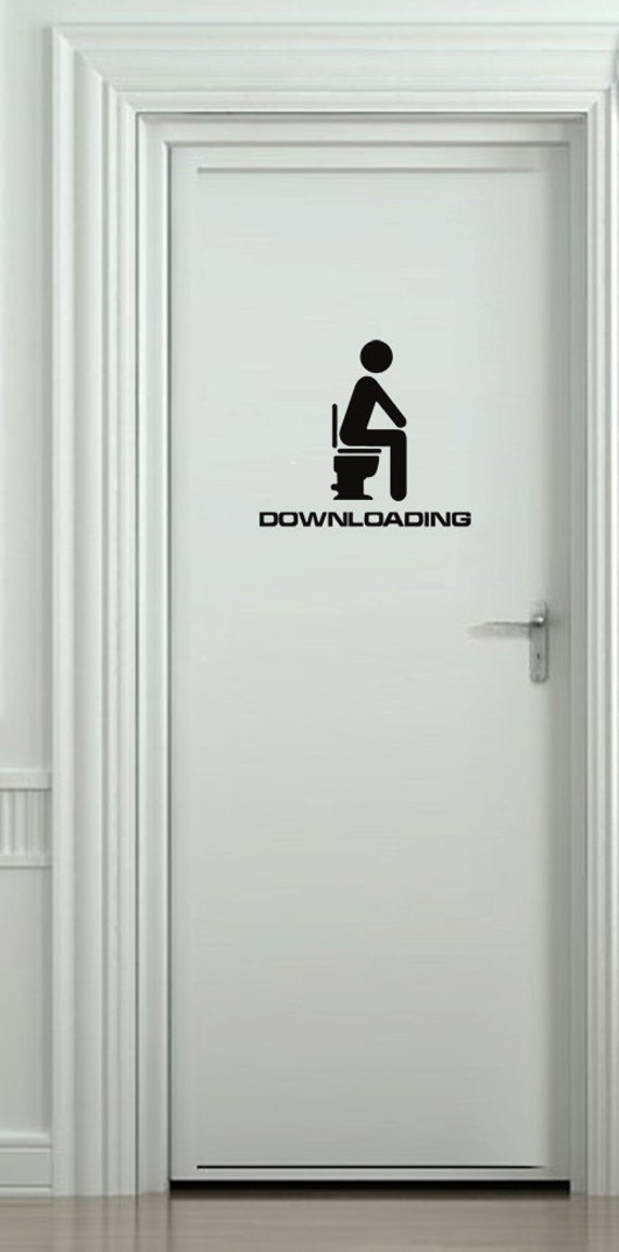 Bathroom Door Stickers : Downloading toilet bathroom door car bumper vehicle stickers