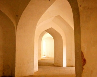 India photography, arches, white, architecture, architectural print, architectural art