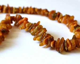 Amber necklace - baltic amber necklace - fossil necklace - healing necklace