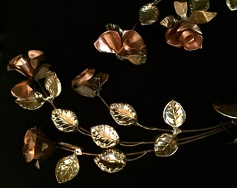 Set of 2 Mid-Century Metal Wall Flowers  VG1711