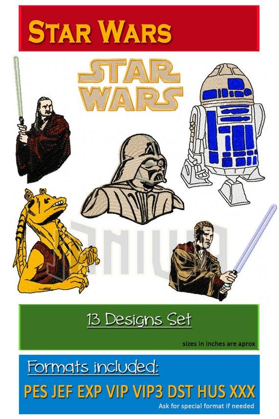 wars machine embroidery designs