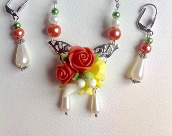 Butterfly jewels set with cold porcelain