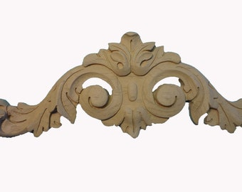 Large Decorative Accent / Applique / Onlay Pair (2) - Wood Grain | Pre-primed | Ready to Paint / Stain