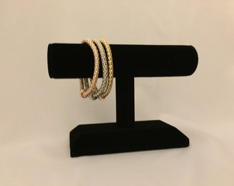Delightlful 18K gold, silver and rose gold bracelet