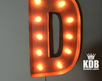 """Letter D Marquee Light - 24"""" High"""
