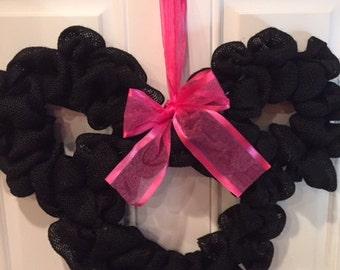 Minnie Mouse Burlap Wreath