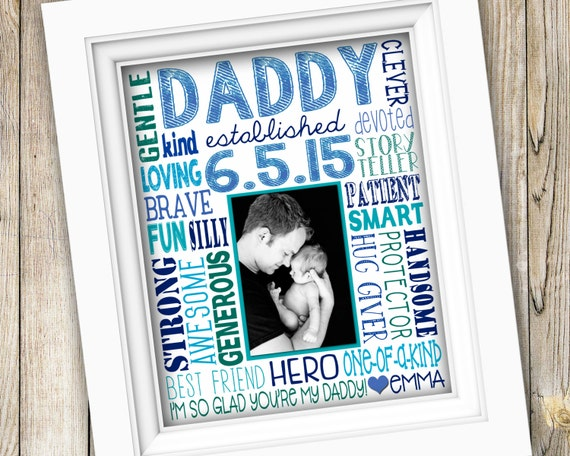 Printable Father's Day Custom Photo Subway Art