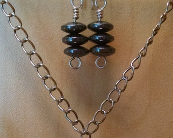 Silver and Steel Jewelry Set