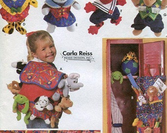 FREE US SHIP Simplicity 7929 Bean Babies Bean Bag doll costumes Closet Locker Organizer Toy Backpack 1997 uncut Bed Caddy Out of Print