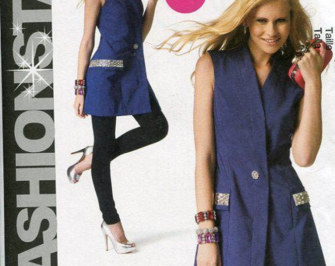 FREE US SHIP McCall's 6847 Fashion Star Coatdress Dress Tunic Vest 2013  Out of Print Size 18 20 22 24 Plus Size Bust 40 42 44 46