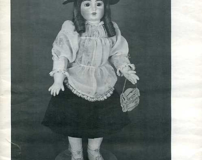 """FREE US SHIP Byron Doll Pattern 1980's 125 Fits 22"""" doll Dress Hat Purse Doll clothes Old Store Stock Sewing Pattern"""