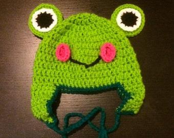 Frog Crochet Beanie