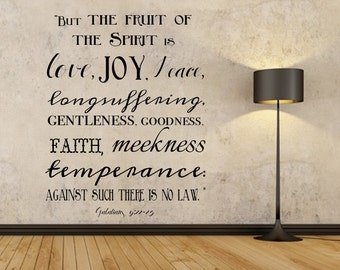 Wall Decal Fruit Of The Spirit Etsy
