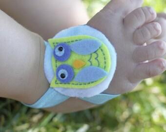 Green Owl Sandals