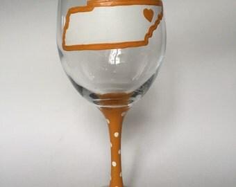University of Tennessee Wine Glass