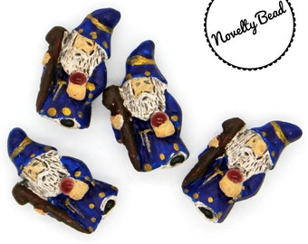 4 - Small - Wizard Beads - Hogwarts - Lord of the Rings - Gandolf - Novelty - Ceramic