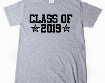 Class Of 2019 T-shirt Funny Hilarious Cool Senior 2019 Graduation School Tee