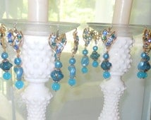 Astral Dreams, Upcycled Bobeches with Vintage Necklaces, Candle Wax Catchers