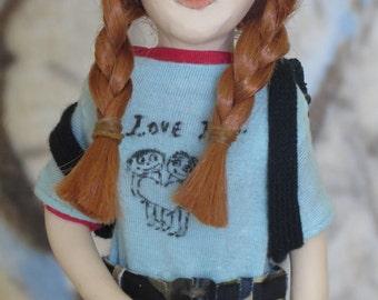 "Kate Winslet as "" Tangerine"" OOAK art doll"