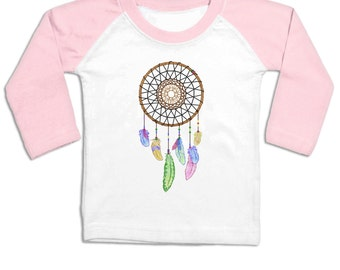 Dreamcatcher long sleeve baby baseball t-shirt
