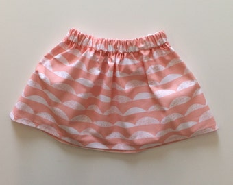 SALE! Girls Pink Scallop Skirt