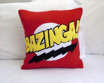 Bazinga Fleece Throw Pillow, Big Bang Theory