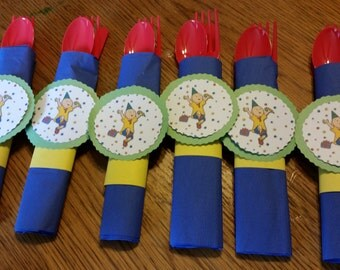 Set of 6 Caillou Birthday Party Tableware
