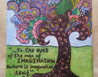 Tree of Imagination - Henna Canvas