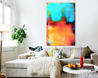 Abstract Art Print, Fine Art Print, Giclee Print, Wall Art, Home Decor Poster Psychedelic Abstract Painting Large 67 X 102 cm (26 X 40 in)