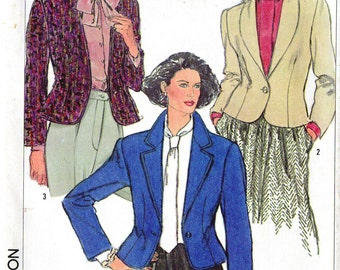 Simplicity vintage sewing pattern - fitted blazer jacket - Size 14