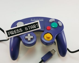 "Retro | Video Game | ""Press Start""  - Iron-on Patch"