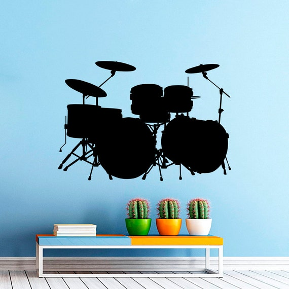 Drum Set Wall Decor : Drums wall decal music drum set musical by decalsfromdavid