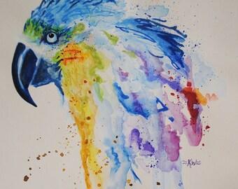 Watercolor Macaw *Original Watercolor Painting*