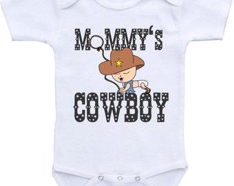 Mommy's Cowboy Baby Onesie Cowboy onesie for boys onesie Baby shower gift Western Onesie Rodeo onesie Baby Cowboy Onesie cowboy baby
