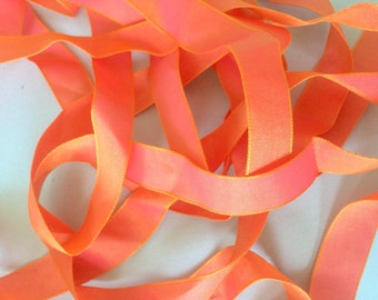 Iridescent Coral Taffeta Ribbon Trim