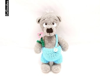 Amugurumi Teddy Bear, soft toy, hand made, crochet