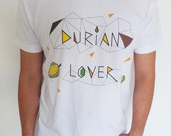 Tshirt design Durian Lover