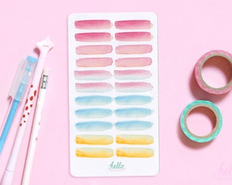 watercolor swatch stickers