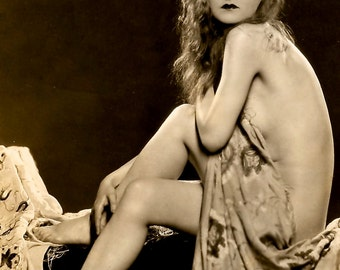 1920's Era Ziegfeld Follies Star Ruth Noble - Sepia Print- Multiple Sizes - Alfred Cheney-Johnston Classic Pose [730-505]