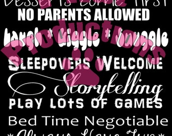 Granny's House Rules