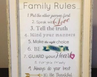Family Rules Frame