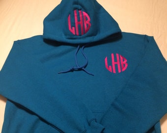 Adult Hoodie with Monogram