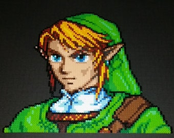 Link Bust Legend of Zelda Nintendo Bead Art