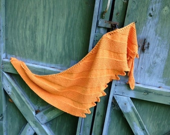 Vivaldi: Summer, Knit Pattern, Summer Asymmetrical Shawl Pattern