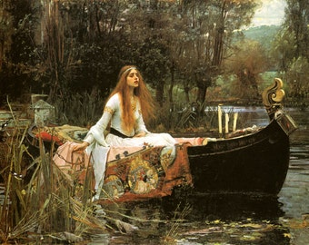 The Lady of Shalott 1888 by John William Waterhouse Art Poster Repro Free S/H in USA